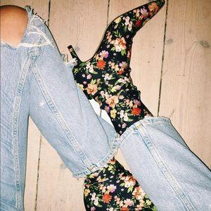 Zara floral sock booties